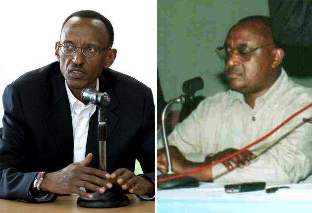 Rwanda's President Paul Kagame, left, and Andrew Kagwa Rwisereka, right, whose body was discovered yesterday