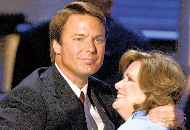 John Edwards with his wife Elizabeth during the 2004 campaign