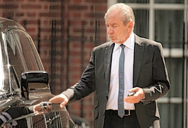 Lord Sugar – his Rolls Royce was often parked in Lord Mandelson's space