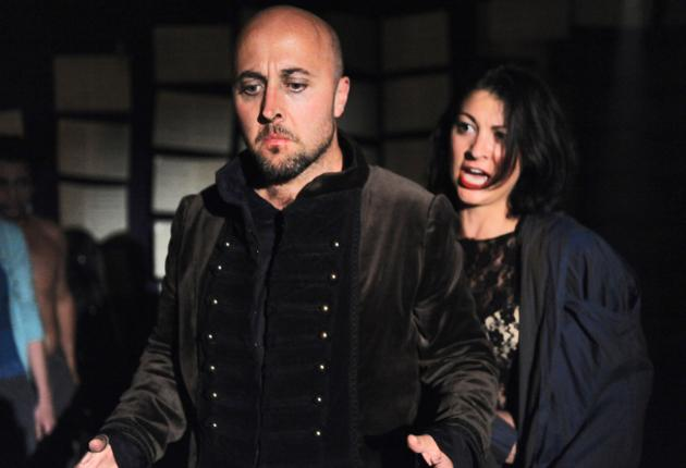 Up close: Richard Burkhard and Claudia Huckle in The Duchess of Malfi