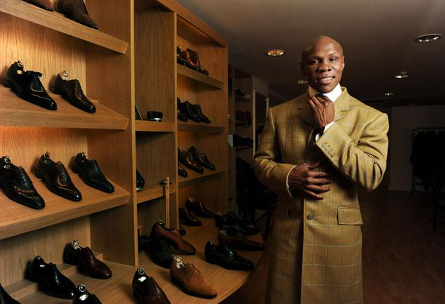 After being declared bankrupt, Chris Eubank now designs outfits for Cad &The Dandy of Savile Row