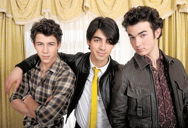 The Jonas brothers, (left to right) Nick, Joe and Kevin. There will always be puppy-faced American boy bands of impossible cleanliness, and shrieking girls