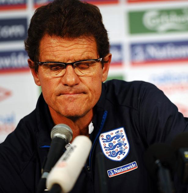 Capello had apparently not given the go ahead for the Index to be put online