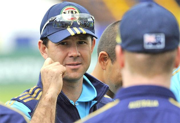 Australia's captain Ricky Ponting speaks to his team during practice yesterday. His side are looking to continue their dominance over Pakistan when the second Test gets underway at Headingley today