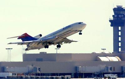 Delta's first WiFi-equipped regional flight was between Hartsfield International Airport in Atlanta, Georgia, pictured here, and White Plains.