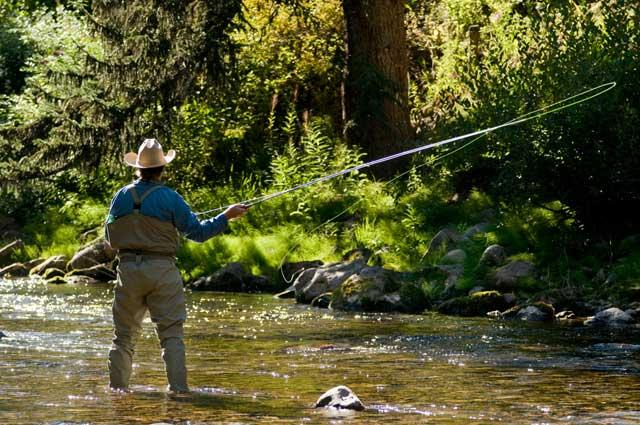 Cooling-off time: fly-fishing for trout is among the summer activities in Vail, Colorado