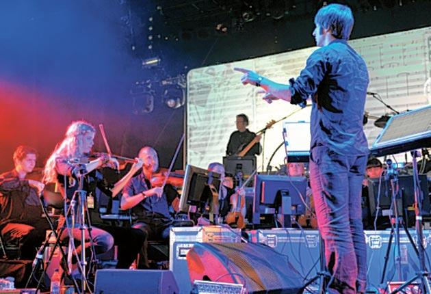 The Heritage Orchestra perform a warm-up set at Womad