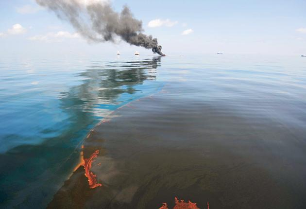 A controlled fire burns oil in the Gulf of Mexico in May after the Deepwater Horizon rig exploded on 20 April, killing 11 men. BP will start deepwater drilling off the coast of Libya 'within weeks'