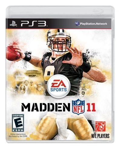 The 'Madden NFL 11' video game cover stars Drew Brees of the New Orleans Saints