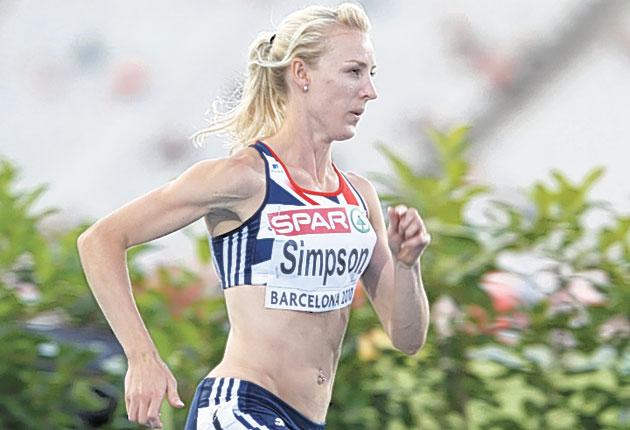 Jemma Simpson has her boyfriend's silver medal in 10,000m to inspire her