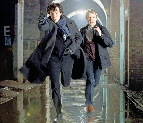 What a pair: Benedict Cumberbatch and Martin Freeman in Sherlock