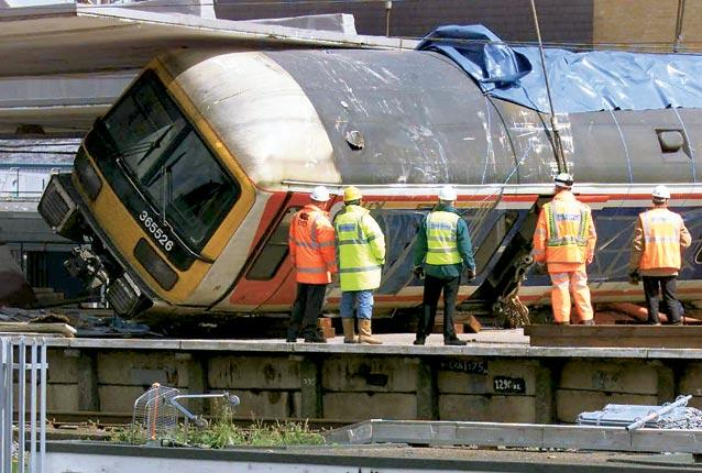 The train crash at Potters Bar which killed 7 people