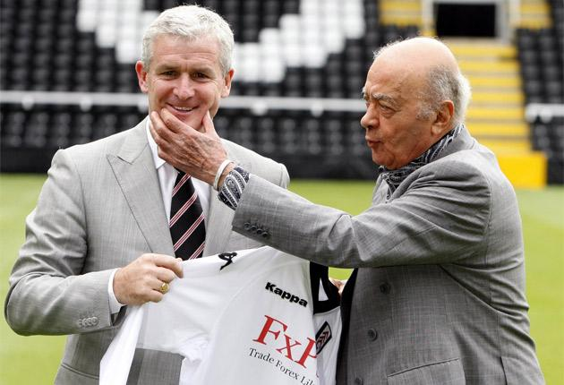 After being unveiled as the new Fulham manager, Mark Hughes claimed that he was unfairly treated by Manchester City, while chairman Mohamed al-Fayed reffered to former boss Roy Hodgson as 'a bugger'