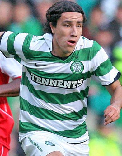 The Mexican defender Efrain Juarez scored Celtic's winner last night