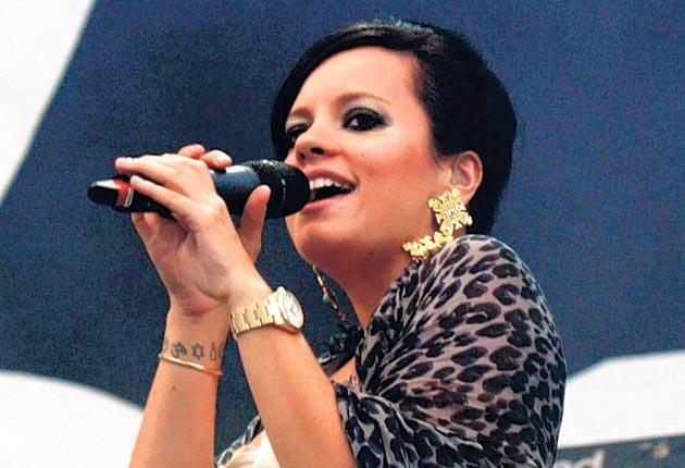 Lily Allen performing at the Wireless Festival in Hyde Park, London, last month. Her baby is due early next year