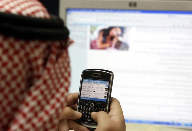 A Saudi BlackBerry user receiving news last week that the messenger service will be blocked