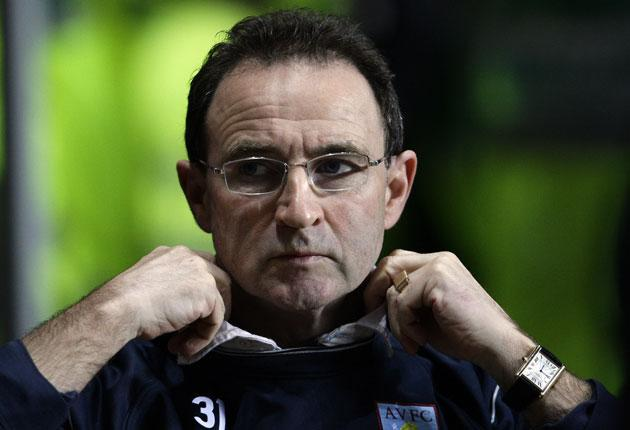 The impending sale of James Milner has heightened tensions between Martin O'Neill (above) and club owner Randy Lerner