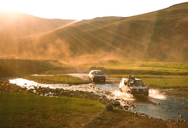 Participants in the Mongol Rally must choose their own route through remote areas of Europe and Asia to reach Mongolia