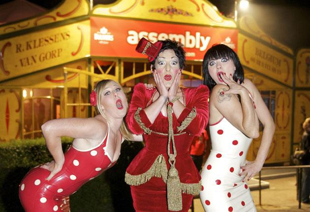 Miss Behave (centre) and sisters from this year's show 'The Crack'