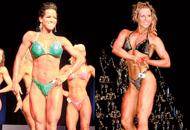 Bodies beautiful? Vicky Bradley and Hollie Walcott, left, both insist there is nothing unfeminine about bodybuilding. 'I love the way I look,' says Vicky Bradley. 'I am comfortable in my body, proud of it'