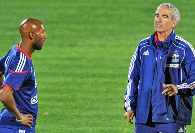 Anelka was banished from the World Cup squad after insulting manager  Raymond Domenech