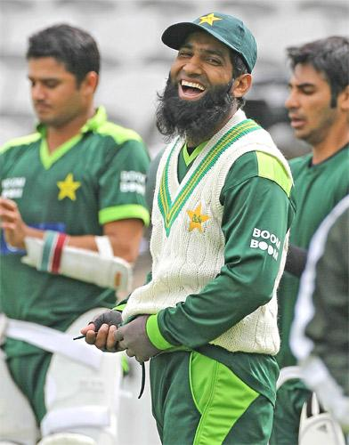 Mohammad Yousuf has looked at ease while training at The Oval with Pakistan this week