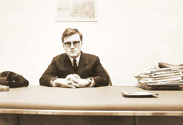 David Rowland, seen here in an early photograph, became a tax exile in the late 1960s