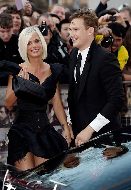 Sammi Miller and Lee Ryan arrive at 'The Heavy' UK film premiere at the Odeon West End on April 15, 2010 in London