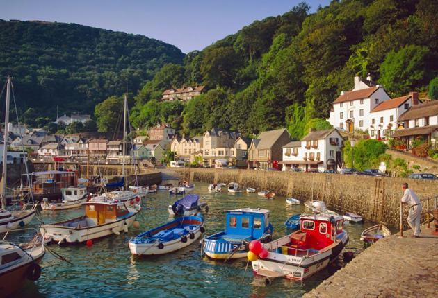 Lynmouth at the end of the described section of the A39