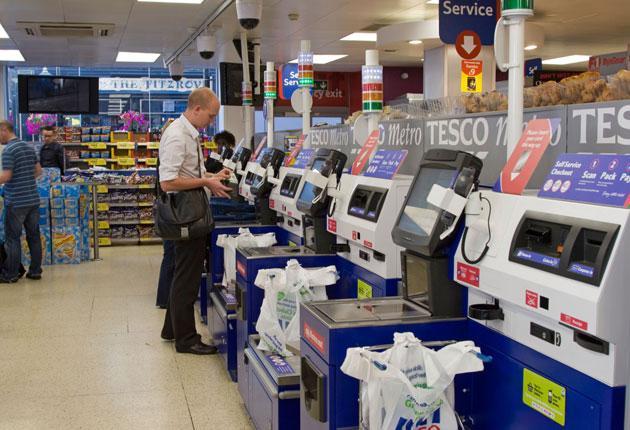 Tesco has 6,000 self-service checkouts across its 1,200 stores
