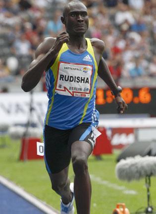 Kenya's David Lekuta Rudisha speeds to a new 800m world record in Berlin