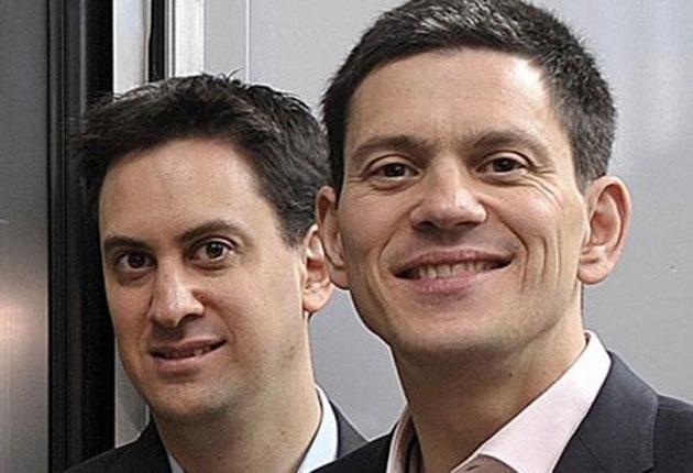 Born to lead? David Miliband's (right) first-born credentials - competitive, ambitious - may no longer serve him well in the Labour leadership contest with younger brother Ed
