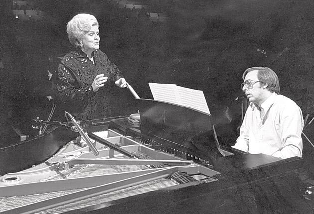 A rich, opulent voice under perfect control: Forrester in 1978 with the composer François Dompierre