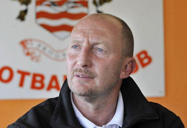 Ian Holloway's Blackpool went out of the Carling Cup to MK Dons on Tuesday