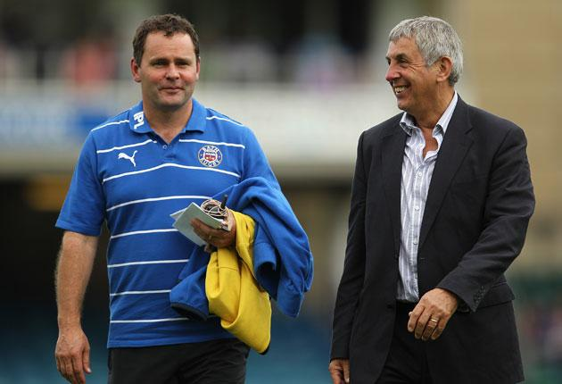 Bath bubble: the strengths of our performance director Ian McGeechan (right) are his experience and relaxed demeanour