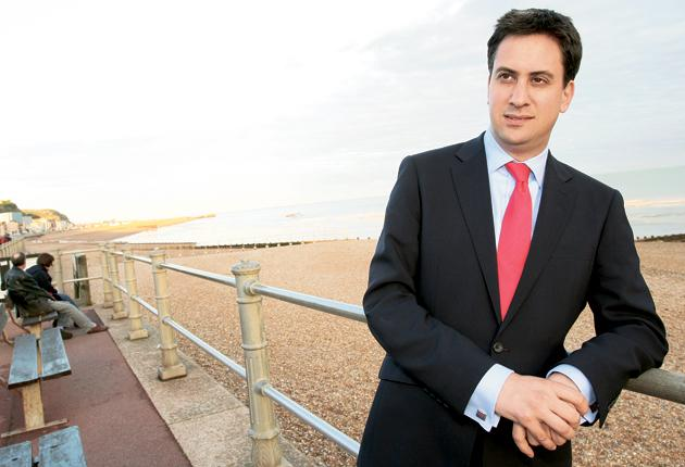 Ed Miliband on the beachfront at Hastings, where he took his Labour leadership campaign at the weekend