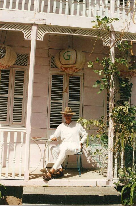 Boyish charm: Glenconner at home on his estate in St Lucia