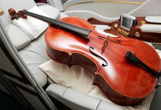 Sour note: a cello in flight