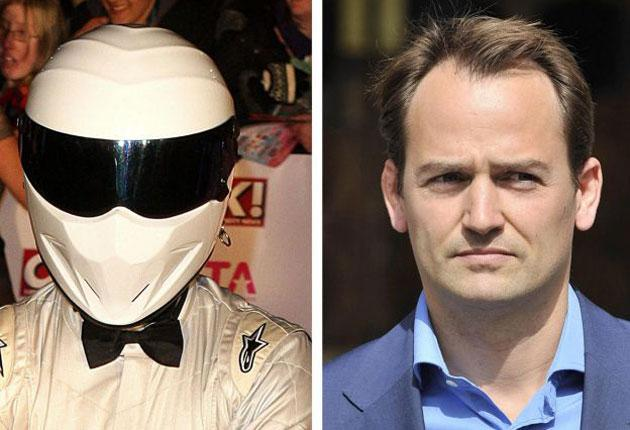The Stig (left) and Ben Collins