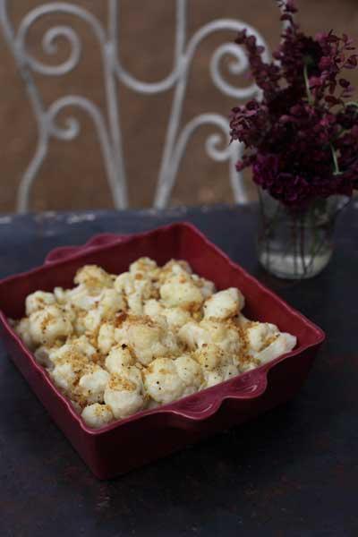 Cauliflower with Dijon mustard and sourdough breadcrumbs