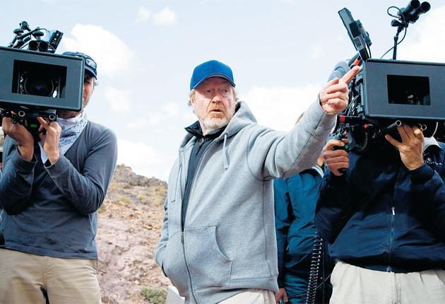 Master of his universes: Ridley Scott on-set