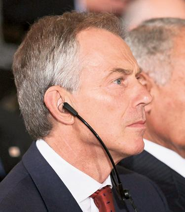 Tony Blair was in Washington this week for the Middle East talks in his role as peace envoy