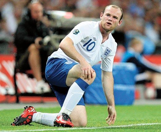 Striker Wayne Rooney was back to his best for England, having a hand in all four goals