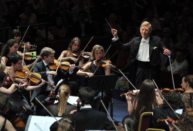 Reverential: Herbert Blomstedt conducting the Gustav Mahler Jugendorchester at the Proms