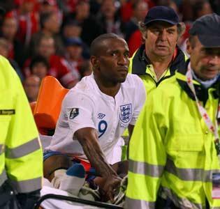 Defoe was injured in the game against Switzerland