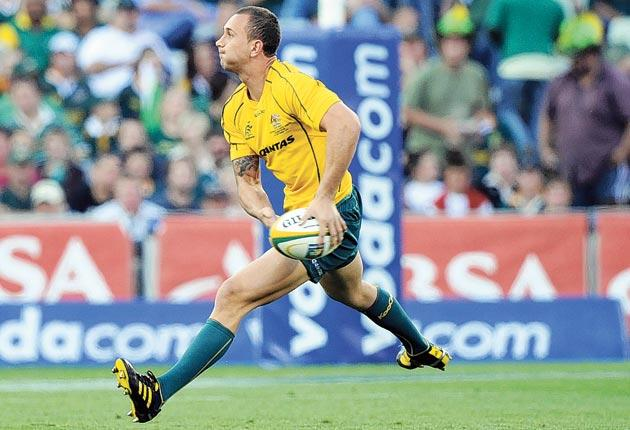Quade Cooper impressed in the win in South Africa