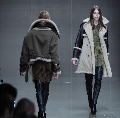 A past show by Burberry whose collection will be shown on the screens of Piccadilly Circus