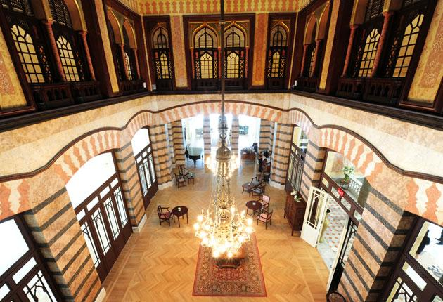 The hotel's main hall has received a long overdue facelift
