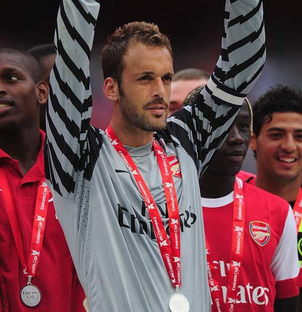 Arsenal were actively looking to replace Almunia across the summer