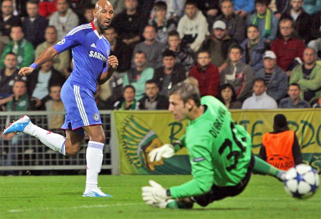 Nicolas Anelka slots the ball under Martin Dubravka for Chelsea's second goal last night